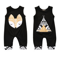 Newborn Winter Rompers 2017 Cute Toddler Baby Boy Bear Jumpers Rompers Playsuit Outfits Clothes 0-24M