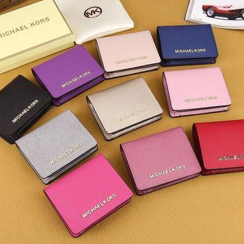 DCCKJG8 MK Women Leather Buckle Wallet Purse