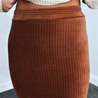 Perfect For Fall Skirt: Cognac