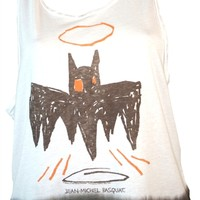 Basquiat Bat with Crown Tank Shirt | OldSchoolTees.com