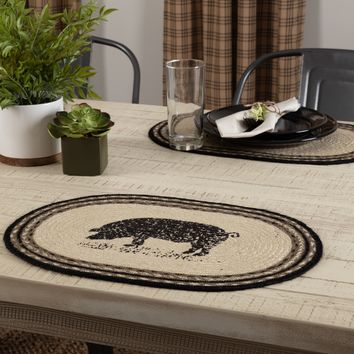 Sawyer Mill Pig Placemat - Set of 6