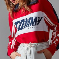 Tommy Jeans Half-Zip Polo Racing Sweatshirt | Urban Outfitters