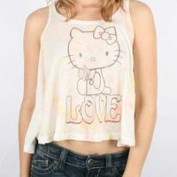 Amazon.com: Mighty Fine - Womens Hello Kitty Love Daisies Tank Top In Linen, Size: Medium, Color: Linen: Clothing