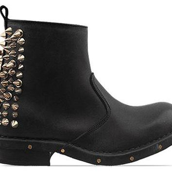 Jeffrey Campbell Chaplin Spike in Black Distressed at Solestruck.com