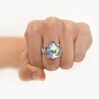 Crystal Ball Ring in  Accessories at Nasty Gal
