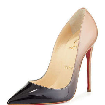 So Kate Degrade Red Sole Pump, Black/Nude