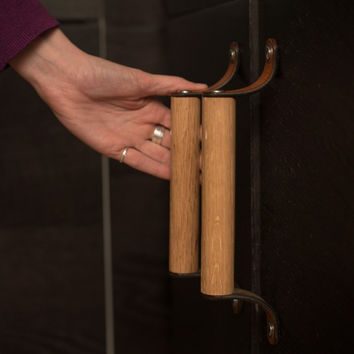 Leather Cabinet Pull - The Sellwood 6""