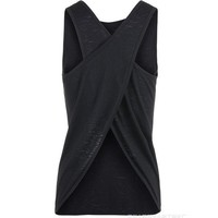 CREYUIB Sexy Women Tank Top  Quick Dry Loose Fitness Vest  Women's Workout Yoga T-Shirts  Exercise  Sports Vest G-399