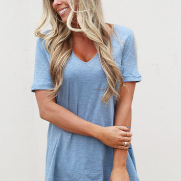 Swing High & Swing Low Tunic {Blue}