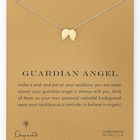 Women's Dogeared 'Reminder - Guardian Angel' Wings Pendant Necklace - Gold Dipped