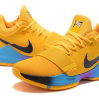 Nike Zoom PG 1 Yellow Basketball Shoe