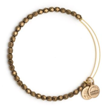 Cocoa Glisten Beaded Bangle | Alex and Ani