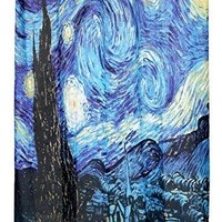 MoMa Collection for Art Lovers The Starry Night Design Fabric Shower Curtain Size: 70 inch  x 72 inch