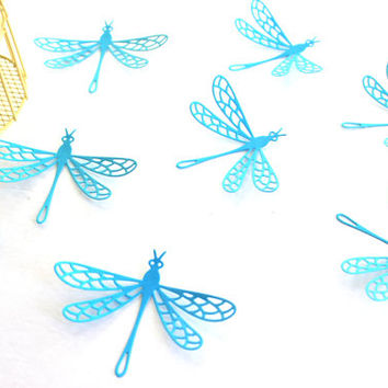 Paper Dragonflies, 3d dragonflies, wall art, wall decals, home decor, dragonfly wall, nursery, wedding, art, dragonflies, wall decor, blue