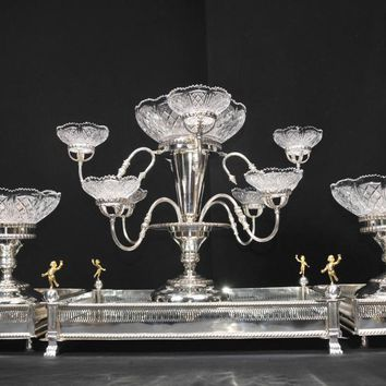 Canonbury - English Sheffield Silver Plate Centrepiece Bowl Dish Epergne