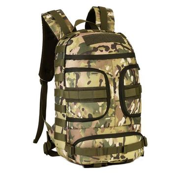 Sports gym bag Outdoor Nylon Waterproof Men Sports Hiking Climbing Double Shoulder Bags 35L Military Tactical Durable Travel Backpack Rucksack KO_5_1