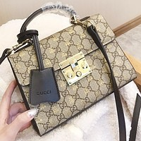 GUCCI Fashion new more letter bee leather shopping leisure shoulder bag crossbody bag handbag