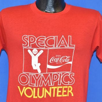 80s Coca Cola Special Olympics Volunteer t-shirt Small