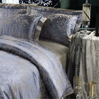 Luxury Silk Bedding Set Embroidery Bed Linens