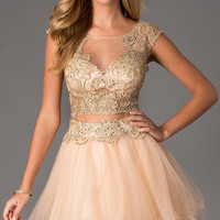 Short Two Piece Prom Dress by Dave and Johnny 0770