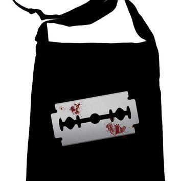 Bloody Razor Blade Crossbody Sling Bag Suicide Prevention Awareness