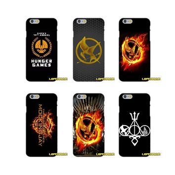 The Hunger Game Logo Soft Silicone phone Case For iPhone X 4 4S 5 5S 5C SE 6 6S 7 8 Plus