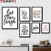 Inspiring Life Quotes Love Poster Modern Canvas Painting Living Room Wall Art Prints Modular Wall Picture For Bedroom Home Decor