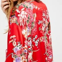 Free People Best of My Love Silk Kimono