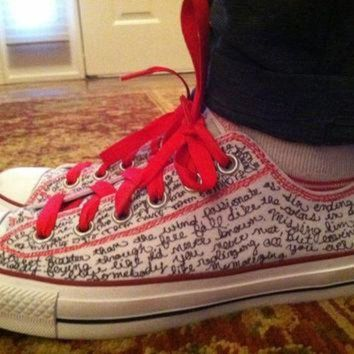 VONE05D personalized converse shoes by thisoldtshirt on etsy