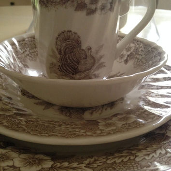 Queen\u0027s Thanksgiving dinnerwareMyott China est.1793 Six brown & Best Discontinued China Products on Wanelo
