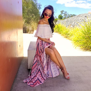 Back In Stock: Mystical Hearts Maxi Skirt