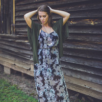 Floral Maxi Dress in Black