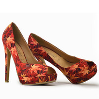 Maple Leaf Stiletto Heel Shoes$96
