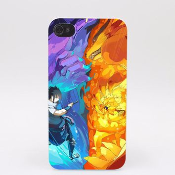 Sasuke vs Naruto graphic phone case