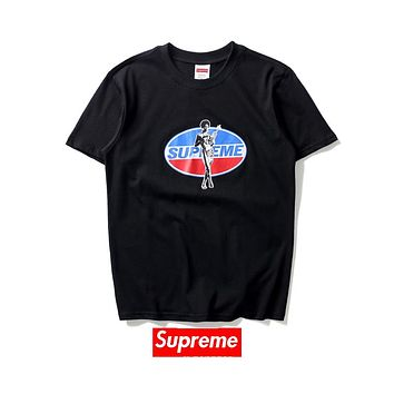 Supreme & Pepsi-Cola Joint Retro Beauty Pepsi Printed Cotton T-Shirt F-A-KSFZ black