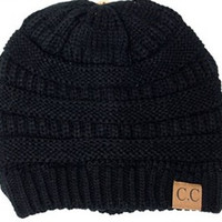 Baby It's Cold Beanie- Black