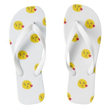 kiss emoji sandals flip flops shoes