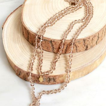 Beadazzle Necklace Taupe