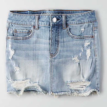 AEO Denim Skirt , Light Wash