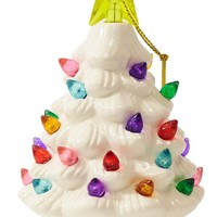White Nostalgic Ceramic Christmas Tree