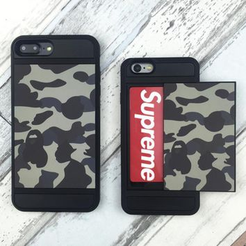 Bape Hot Sale iPhone 7  8 iPhone 7 8 plus - Trending Cute Camouflage Phone Case For iphone 6 6s 6plus 6s plus(Can be placed Card)