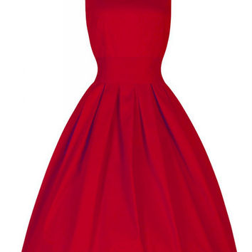 2016 hot sale summer long vintage dress Audrey Hepburn' style retro ball gown dress pure waist swing slim plus size dress