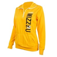 Mizzou Tigers Juniors' Gold 1/4 Zip Sweatshirt