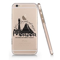 Mordor Lord Of The Ring Clear Transparent Plastic Phone Case for Iphone 6 6s_ SUPERTRAMPshop(iphone 6)