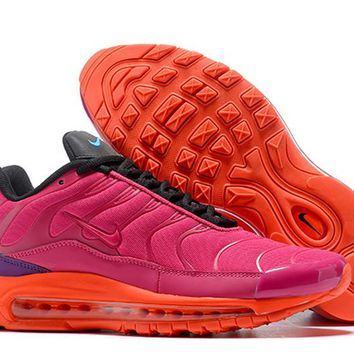 AUGUAU N395 Nike Air Max 97 Plus Silver Shark Running Shoes Pink Orange