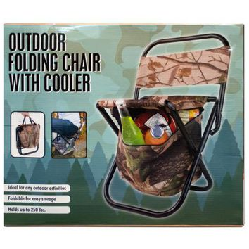 Outdoor Folding Chair with Cooler Bag ( Case of 2 )