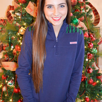 Vineyard Vines Holiday Plaid Shep Shirt- Navy- FINAL SALE