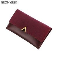 2018 Leather Women Wallets Hasp Lady Moneybags Zipper Coin Purse Woman Envelope Wallet Money Cards ID Holder Bags Purses Pocket