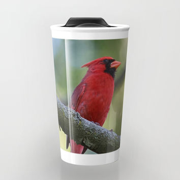 Cardinal Series I Travel Mug by Theresa Campbell D'August Art