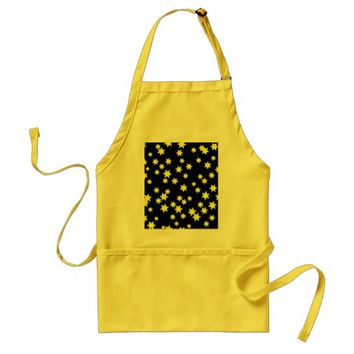 Yellow Stars Adult Apron